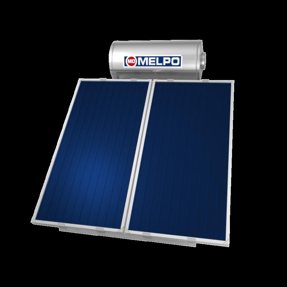 MELPO SOLAR MS200/4,0m² Ηλιακός Θερμοσίφωνας EXTRA GLASS 200lt
