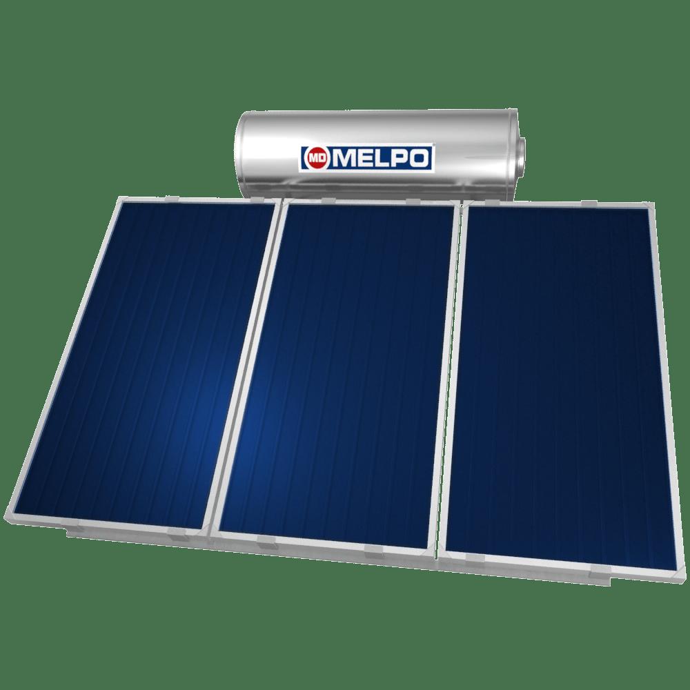 MELPO SOLAR MS230/4,6m² Ηλιακός Θερμοσίφωνας EXTRA GLASS 230lt