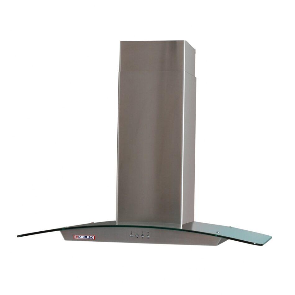 Απορροφητήρας Κουζίνας MELPO-ΜΚ Καμίνι ΚΑΜ90 Inox Ανοξείδωτος- Κρύσταλλο 90cm