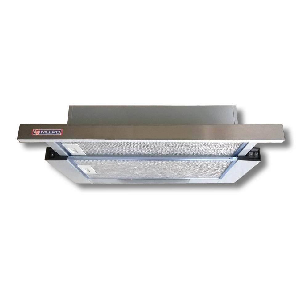 Απορροφητήρας Κουζίνας MELPO MS-INOX Ανοξείδωτος Συρόμενος 60cm 2 Μοτέρ 550m3/h κυβικά/ώρα